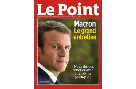visuel Macron Le Point
